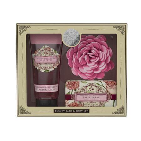 Somerset Toiletry Dárková sada s houbou na mytí Růže