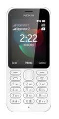 Nokia telefon 222 DS biały