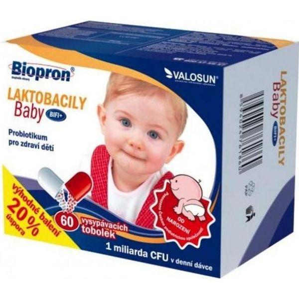 Walmark Biopron LAKTOBACILY Baby BiFi+ tob.60
