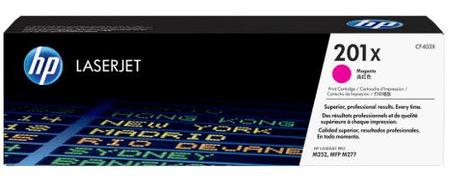 HP 201X Purpurová originální tonerová kazeta LaserJet s vysokou výtěžností (CF403X)