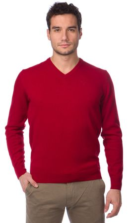 Barbour pánský vlněný svetr M červená