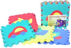 Wiky Pěnové puzzle Auta 30x30cm 10ks v sáčku