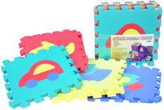 Teddies BABY Pěnové puzzle Auta 30x30cm 10ks v sáčku