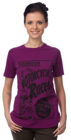 Barbour dámské tričko s potiskem S fialová