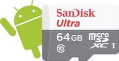 SanDisk microSDXC 64 GB (Class 10 / UHS-I) Ultra 48 MB/s (SDSQUNB-064G-GN3MN)