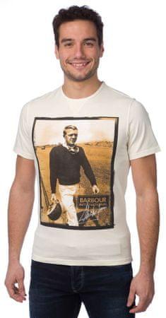 Barbour pánské tričko S smetanová