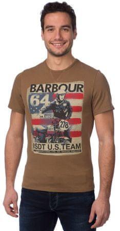 Barbour pánské bavlněné tričko S hnědá