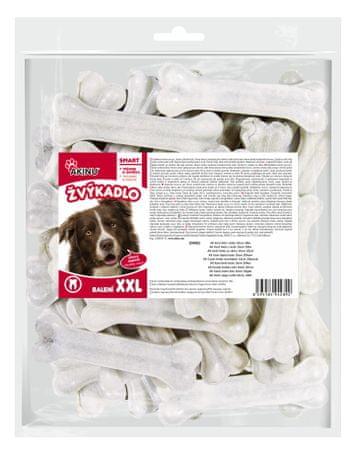 Akinu Fehércsont marhabőr jutalomfalat, 20 db, 10 cm