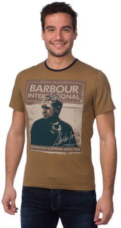 Barbour pánské tričko S hnědá