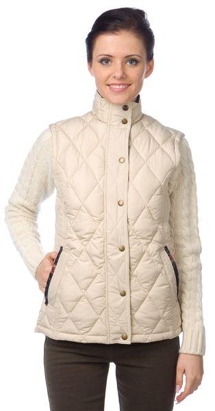 Barbour dámská prošívaná vesta XL béžová