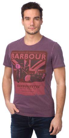 Barbour pánské tričko S fialová