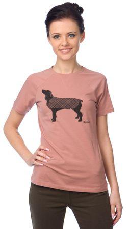 Barbour dámské tričko S růžová