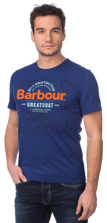 Barbour pánské tričko s potiskem S modrá
