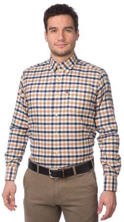 Barbour pánská kostkovaná košile M cihlová