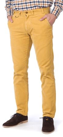 Barbour pánské bavlněné kalhoty 34/32 žlutá