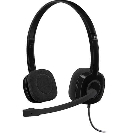Logitech H151 stereo slušalke z mikrofonom