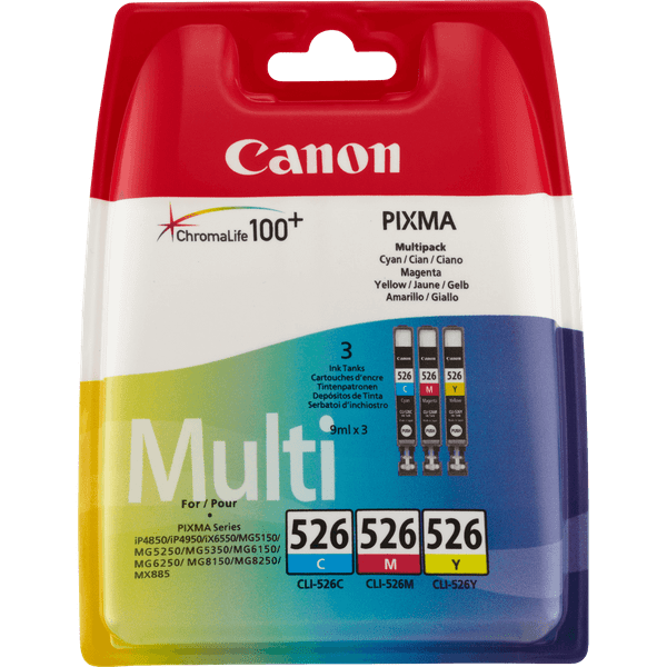 Canon CLI-526 C/M/Y Pack (4541B009)