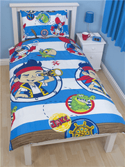 Disney Otroška posteljnina Jake and the Never Land Pirates Doubloons