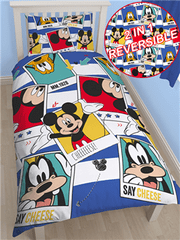 Disney Otroška posteljnina Mickey Mouse Polaroid