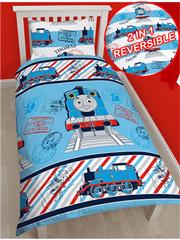 Otroška posteljnina Lokomotivček Tomaž Adventure
