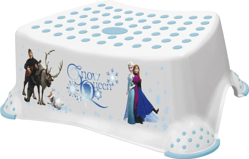 OKT Stupínek k umyvadlu a WC Frozen, Bílá