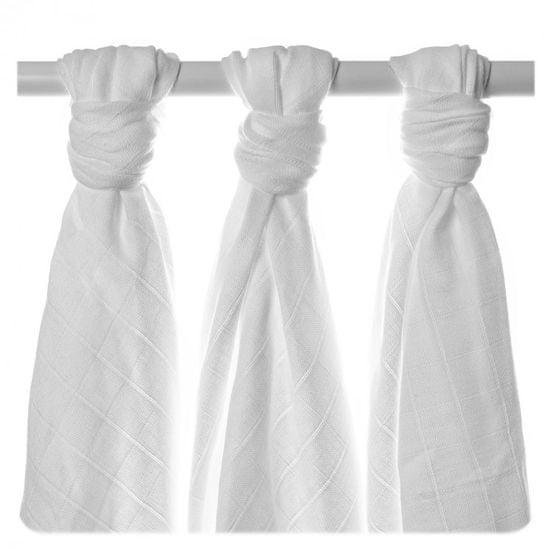 XKKO Ręczniki tetrowe z bawełny Organic XKKO 90x100cm (3 szt.), Old Times białe