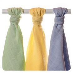 XKKO Ręczniki tetrowe z bawełny Organic XKKO 90x100cm (3 szt.), Pastels Chłopiec