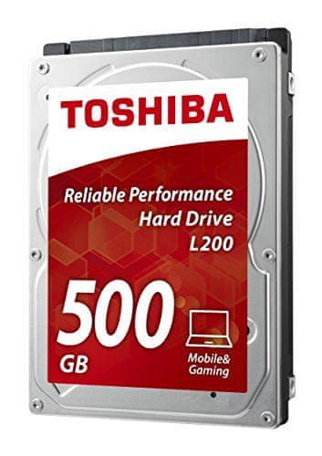 """TOSHIBA L200 500GB / interní / SATA III / 2,5"""" / 5400 rpm (HDWJ105EZSTA)"""