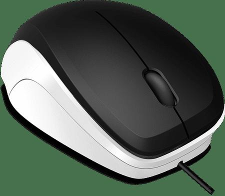 Speedlink miška Ledgy, črna/bela