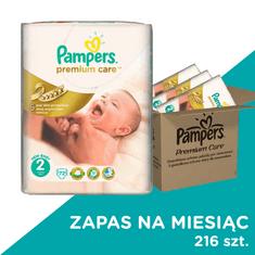 Pampers Pieluchy Premium Care 2 Mini - 216 szt. (zapas na miesiąc)