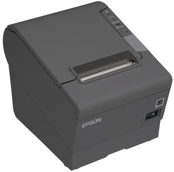 Epson TM-T88V tmavá, USB + ether., zdroj, kabel (C31CA85238)