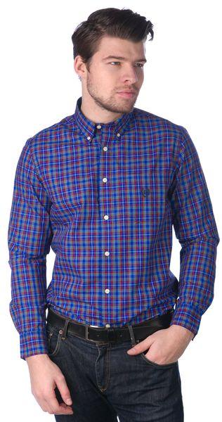 Chaps pánská bavlněná košile L modrá