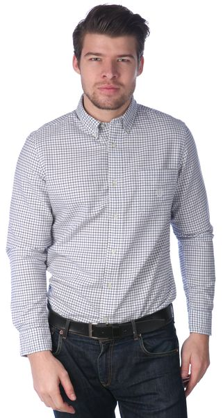 Chaps pánská kostičkovaná košile S bílá