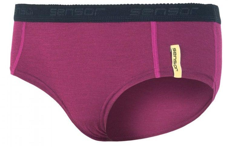 Sensor Merino Wool Active dámské kalhotky lila L