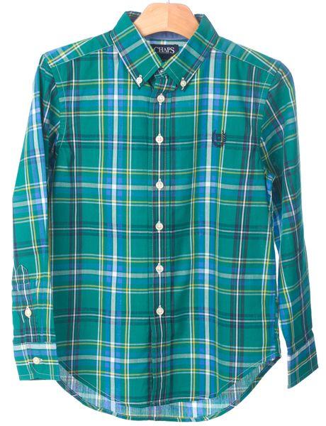 Chaps chlapecká košile 164-170 zelená