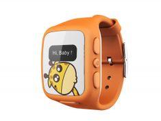 intelioWATCH Dětské GPS hodinky s telefonem, oranžové