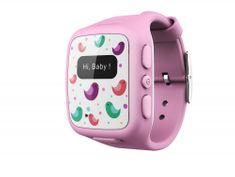 intelioWATCH Dětské GPS hodinky s telefonem, růžové