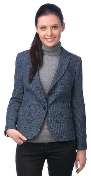 Gant dámské vlněné sako na knoflíky 42 tmavě modrá