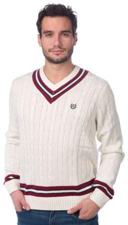 a8cc213656b1 Chaps pánský svetr s kontrastními detaily M smetanová