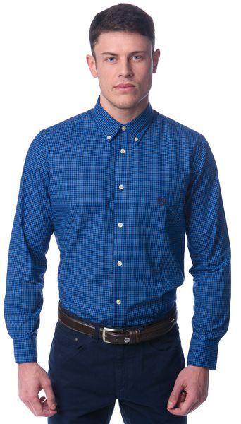 Chaps pánská bavlněná košile M modrá