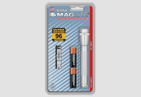 Maglite svetilka M2A106, srebrna