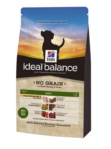 Hill's Ideal Balance Canine Adult NO GRAIN s čerstvým kuřetem a bramborami 12 kg
