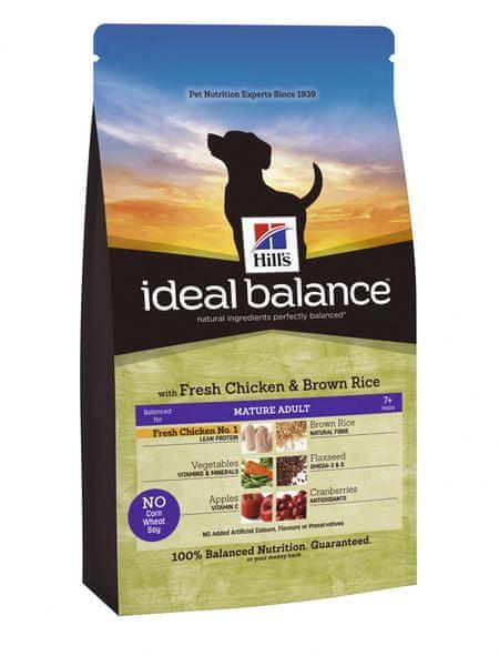Hill's Ideal Balance Canine Mature Adult s čerstvým kuřetem a hnědou rýží 12 kg