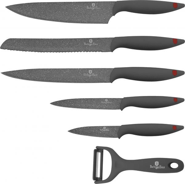 Berlingerhaus Stone Touch Line Sada 6ks nožů šedá