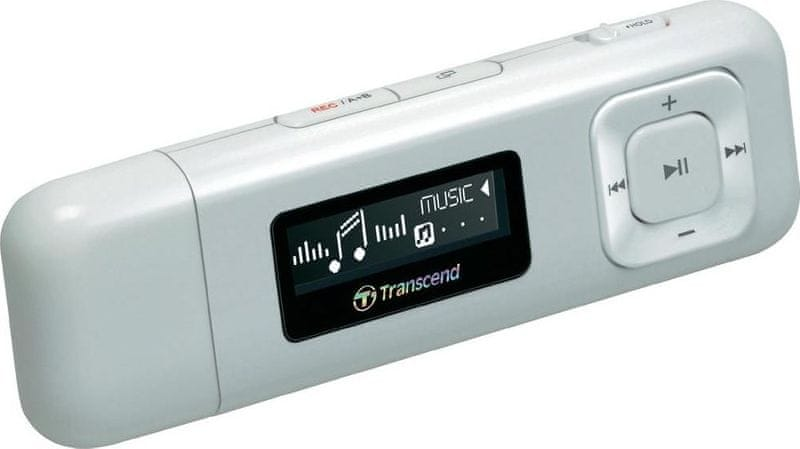 Transcend MP330W / 8 GB, bílá