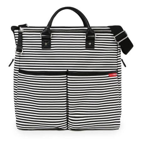 Skip hop previjalna torba Duo Signature, belo-črna