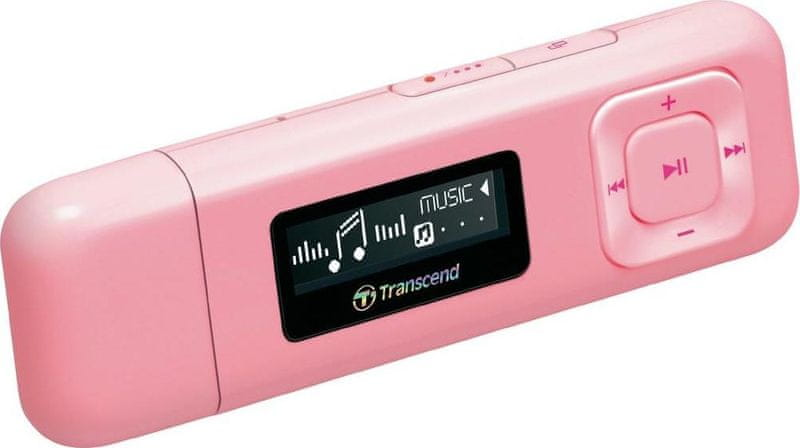 Transcend MP330P / 8 GB, růžová
