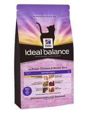 Hill's Ideal Balance Feline Mature Adult s čerstvým kuřetem a hnědou rýží 2 kg
