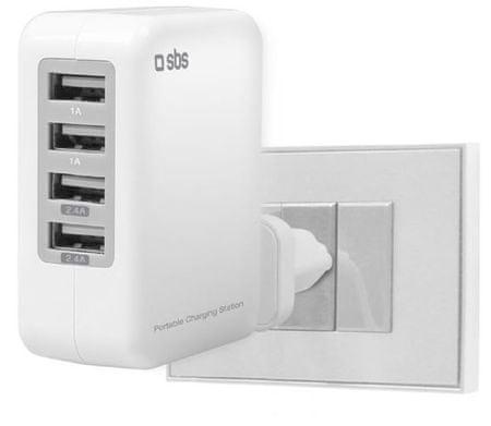 SBS hišni polnilec 4 USB izhodi
