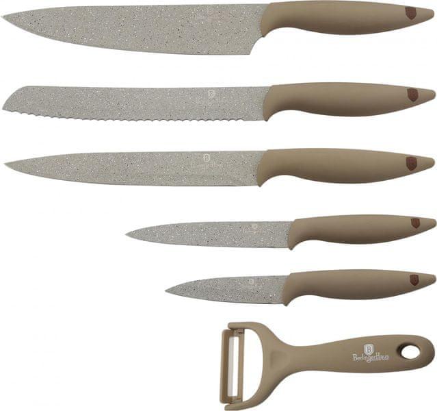 Berlingerhaus Stone Touch Line Sada 6ks nožů béžová